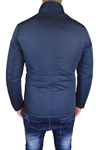 Mat Sartoriale Herren Mantel blau dunkelblau Small