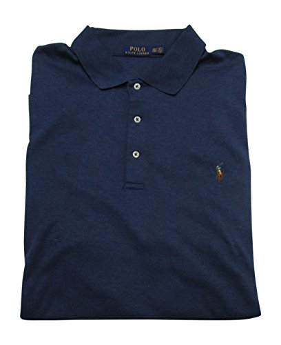Polo Ralph Lauren Big And Tall - Ralph Lauren Big and Tall Soft-Touch Pima Cotton Polo Shirt Classic-Fit (3XB, Rustic Navy Heather)