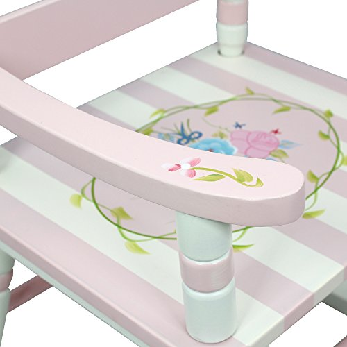 Teamson Design Corp Fantasy Fields - Bouquet Thematic Kids Wooden Rocking Chair Imagination Inspiring Hand Crafted & Hand Painted Details Non-Toxic, Lead Free Water-based Paint by Teamson Design Corp (Image #5)