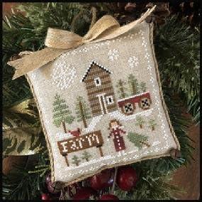 Farmhouse Christmas 6 Pinewood Farm Cross Stitch Chart and Free Embellishment