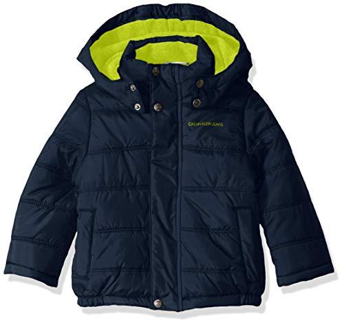 Calvin Klein Boys' Toddler Eclipse Bubble Jacket, Navy, 3T (Calvin Klein Jacket Boys)