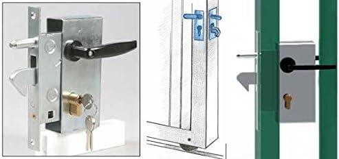 Cerradura de gancho para puerta o puertas correderas: Amazon.es: Bricolaje y herramientas