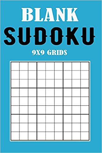 graphic regarding Blank Sudoku Grid Printable referred to as Blank Sudoku 9x9 Grids: Blue Include (Deliver your particular Sudoku