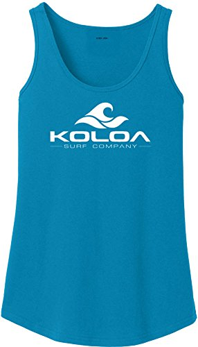 (Koloa Surf Co. Ladies Classic Wave Logo Soft Cotton Tank)