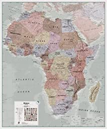 Maps International Africa Wall Map (Laminated)