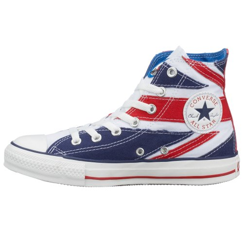 Adulto Converse white Sneaker Unisex blue Red EEpqa