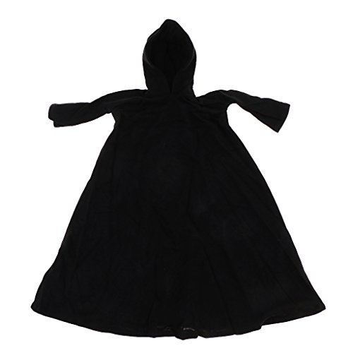 SunniMix 1/6 Scale Black Cloak Clothing for 12 Inch Dolls Action Figures Male Body Toys DIY Parts ()