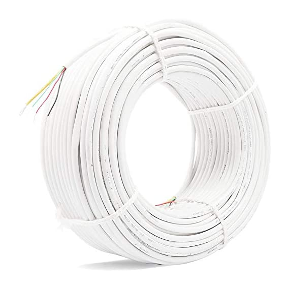 Usewell 90 Meter CCTV Cable 3+1 Works with All Brand Cameras