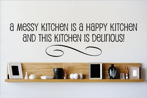 Design With Vinyl OMG 500 Black A Messy Kitchen Is A Happ...