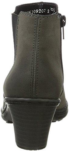 Grau Damen Boots Fumo Rieker Chelsea 54994 6zqnI7