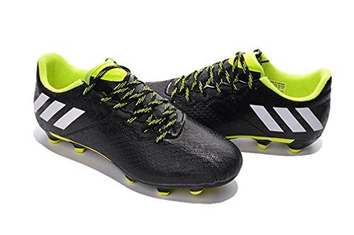 Generic hombre Messi 16,3FG Botas de fútbol zapatos de negro