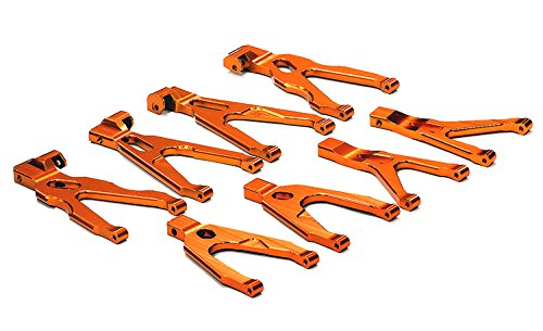 Integy RC Model Hop-ups T3529ORANGE Billet Machined Type II Suspension Conversion Kit for 1/16 Traxxas E-Revo