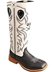 Twisted X Boys and White Buckaroo Cowboy Boot Square Toe - Ybk0009