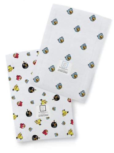 SwaddleDesigns Burpies Cotton Cloths Angry