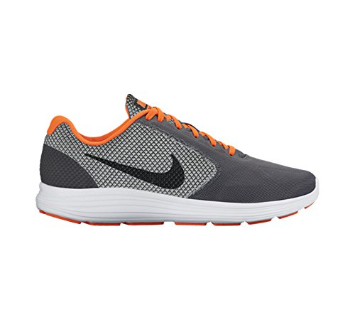 Nike Revolution 3, Zapatillas de Running para Hombre Gris (Gris (dark grey/black-total crimson-wolf grey))