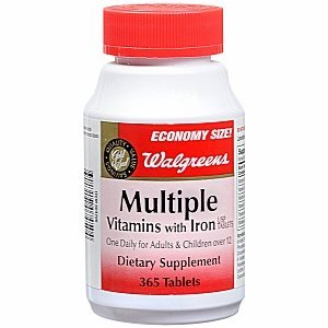 Walgreens Multiple Vitamins with Iron Dietary Supplement Tablets 365 ea by AB