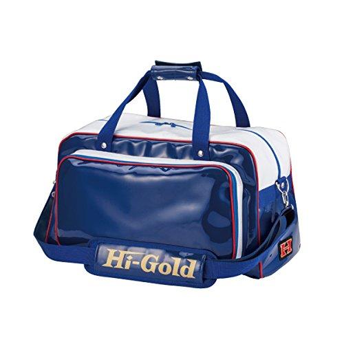 ハイゴールド(HI-GOLD) エナメルショルダーバッグ ミドルサイズ HB-300 B00UQ15F7Q Dブルー×ホワイト Dブルー×ホワイト