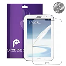 """Fosmon Anti-Glare (Matte) Screen Protector Shield film for the Samsung Galaxy Note 8.0 N5100 8"""" Inch Tablet - 3 Packs (Fosmon Retail Packaging)"""