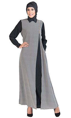 Weiß Schwarz Mehrfarbig und Kariert Kleid East Damen Essence pXqPp0F