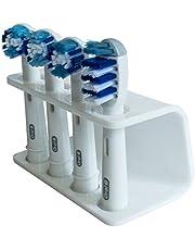 Seemii houder voor elektrische tandenborstelkoppen, voor 2 of 4 borstelkoppen van Oral-B, wit