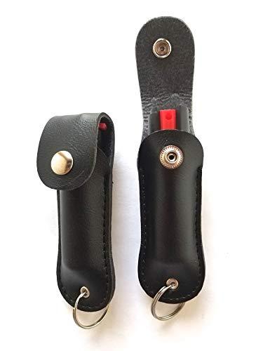 (POLICE MAGNUM 2 Pepper Spray 1/2oz Safety Lock Self Defense Police Strength Practice INERT Spray Black Holster)