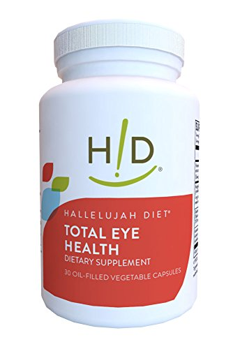 Hallelujah Diet Total Eye Health Dietary Supplement (30 Oil-Filled Vegetable Capsules, 30-Day Supply)
