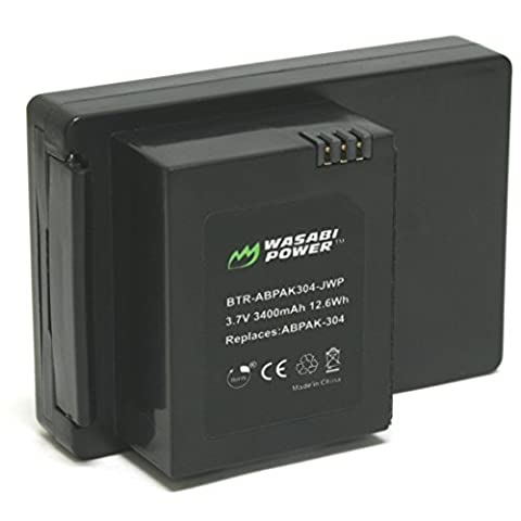 Wasabi Power Extended Battery for GoPro HERO3, HERO3+ (Wasabi Gopro Battery 4)