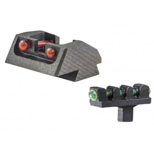 1911 MIL SPEC, SPRINGFIELD SERIES FIBER OPTIC SIGHT SET RED REAR GREEN FRONT