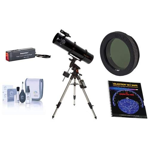 Celestron Advanced VX 8'' Newtonian Telescope - with Accessory Kit (Night Vision Flash Light, Sky Maps, Moon Filter, Optical Cleaning Kit) by Celestron
