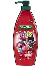 Palmolive Kids 3 in 1 Hair Shampoo, Conditioner & Body Wash 700mL, Trolls Merry Strawberry, Hypoallergenic, Detangles Hair, No Parabens