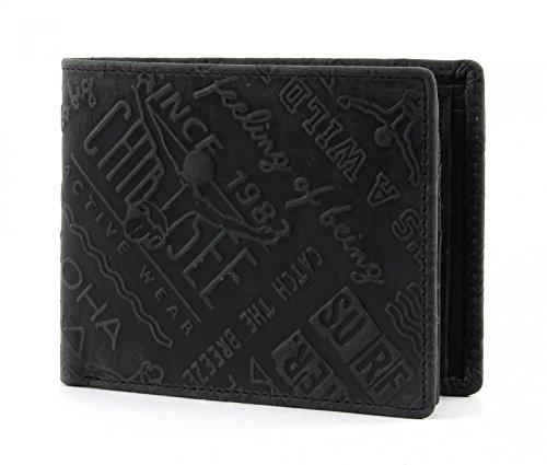 Chiemsee Wild Ride Quer Geldbörse Leder 12,5 cm Schwarz