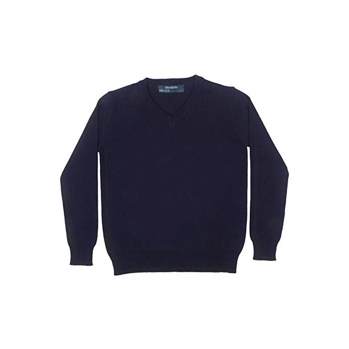 41mkv%2BnAsLL Jersey azul uniforme escolar Ideal para el uniforme de colegio 100% Algodón