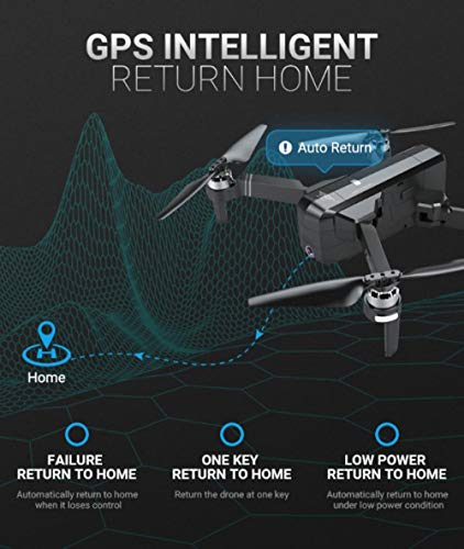 MOZATE New SJRC F11 GPS 5G WiFi FPV 1080P HD Cam Foldable Brushless RC Drone Quadcopter (Black) by MOZATE (Image #9)