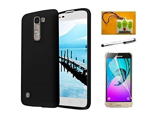 release date: 50329 9c2b6 LG K7 Case, LG Tribute 5 Case (Metro PCS), Luckiefind® Frosted Matte TPU  Flexible Thin Gel Cover Case, Stylus Pen, Screen Protector & Wiper  Accessory ...