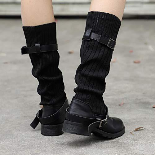 À Imperméables Chaussures Bout Antidérapant Doux Athlétique Sangle Bottes Vintage Abcone Marche Chelsea En Décontracté Rond Boucle Cuir Femmes Noir Extérieur 0xPFqdp