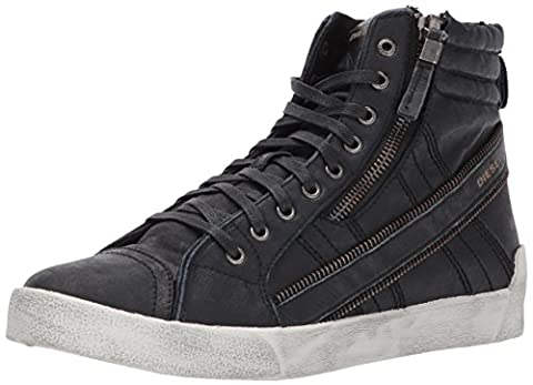 Diesel Men's D-Velows D-String Plus Denim Sneaker, Black, 8.5 M US (Men Diesel Top)