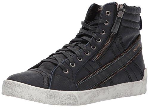 Diesel Mens D-velows D-string Plus Denim Fashion Sneaker Nero