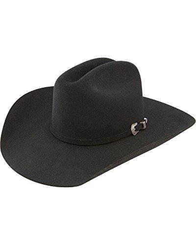 Resistol Men's 5X Challenger Fur Felt Cowboy Hat Black 6 7/8 ()