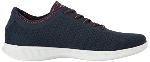Navy Walking Lace Pink Mesh Lite Skechers Women's Step Up Performance Shoe Go FXnzwx