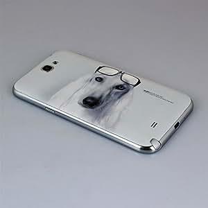 Matek (TM) Deluxe My Dog Abbott Pattern Battery Cover Back NFC Housing for Samsung Galaxy Note 2 N7100