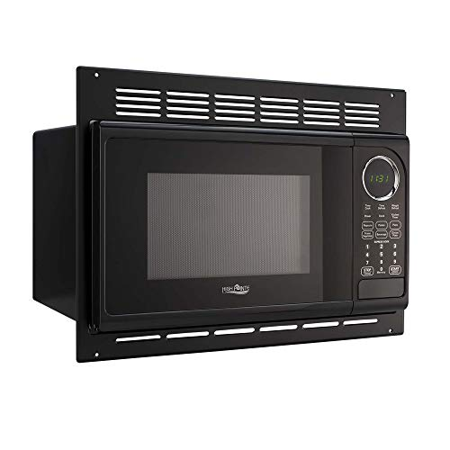 Stainless Steel Direct Vent - RecPro RV Microwave | .9 Cubic Ft Black Microwave with Trim Kit | 900 Watt (RPM-1-BLK)