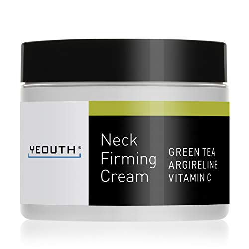 YEOUTH Neck Cream for Firming, Anti Aging Wrinkle Cream Moisturizer, Skin Tightening, Helps Double Chin, Turkey Neck Tightener, Repair Crepe Skin with Green Tea, Argireline, Vitamin C - 2oz