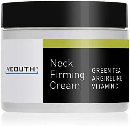 YEOUTH Neck Cream for Firming, Anti Aging Wrinkle Cream Moisturizer, Skin Tightening, Helps Double Chin, Turkey Neck Tightener, Repair Crepe Skin with Green Tea, Argireline, Vitamin C - 2oz (2oz)