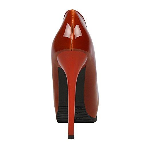 Sexy Mesdames Pompe Soirée Hauts Talons 34 Chaussures De Ggxheel Plate forme Mariée Rouge wzxYqw