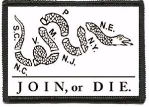 Celidon Patch Tactical Join Or Die Gadsden Snake Patch Velcr