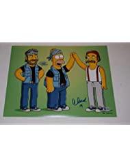 Cheech Marin & Tommy Chong Signed Autographed 11x14 Photo The Simpsons BAS COA