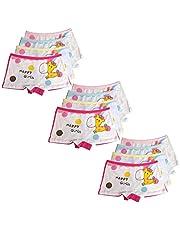Usex Sense 12 Pack niñas algodón Boyshorts Lovely Boxers Ropa Interior Tamaño 2-12 años