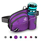 Waterfly Hiking Waist Bag Fanny Pack with Water Bottle Holder for Men Women Running & Dog Walking Can Hold iPhone8 Plus Screen Size 6.5inch (Purple)