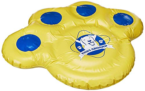 Paws Aboard Doggy Lazy Raft, Puncture Resistant Vinyl Dog Float, Perfect for The Lake, Pool, River & Boat - Small (30