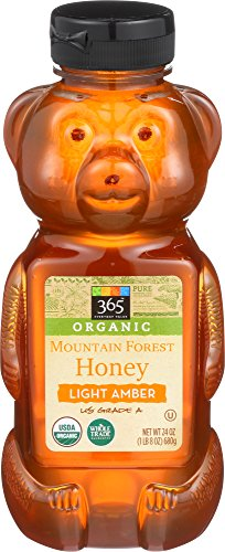 Honey Organic Forest - 365 Everyday Value, Organic US Grade A Mountain Forest Honey, Light Amber, 24 oz